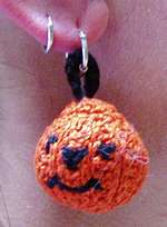 Pumpkin pattern earring