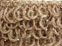 crochet loop stitch front