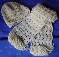 Ripple hat and scarf
