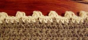 Crochet picot edging 2