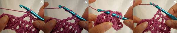 Crochet cable row
