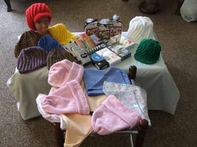 Some of the items donated to Hospice this year