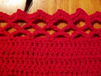 Crab Stitch Reverse Single Crochet Edging Border - YouTube