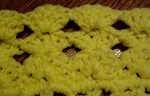 Crochet shell edging open