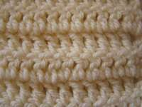 Double crochet in rows