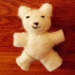 felted teddy bear