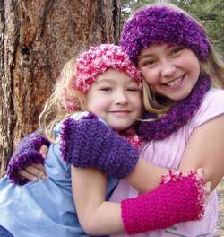 Fingerless gloves - Madison (L) & Morgan (R)