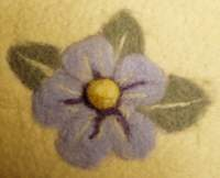 Needle felting - flower