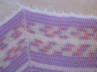 Octagon baby afghan edge