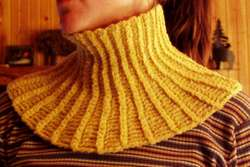Polo neckwarmer pattern