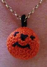 Pumpkin pattern pendant