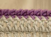 Right side crochet rope edging