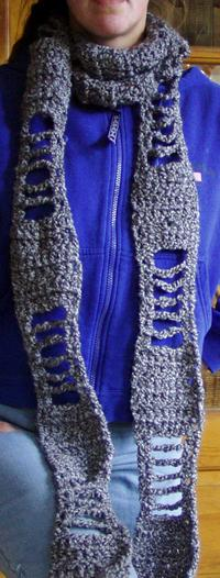 Skeleton Scarf Free Crochet Pattern from the Scarves Free Crochet Patterns Ca...