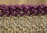 Wrong side crochet rope edging