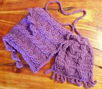 Cable hat purse neckwarmer pattern