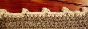 Crochet picot edging 4