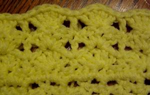 Crochet shell edging with dc