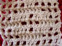 Filet crochet stitches