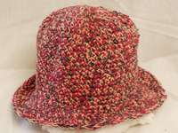 Free crochet hat pattern with brim