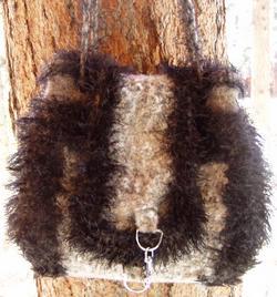Long flap crochet bag pattern
