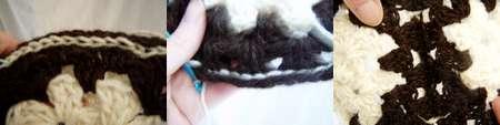 Slip stitch crochet seams