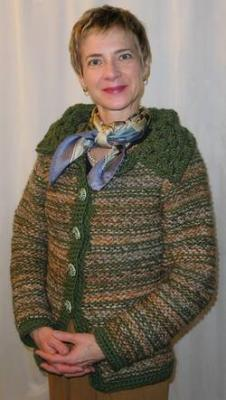 Collaboration Cardigan with crochet edging